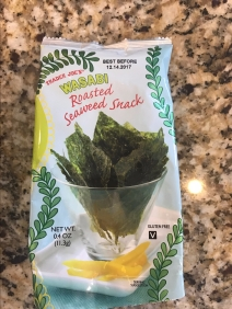 Trader Joe's seaweed, yum. But you can get this at Asian stores too!